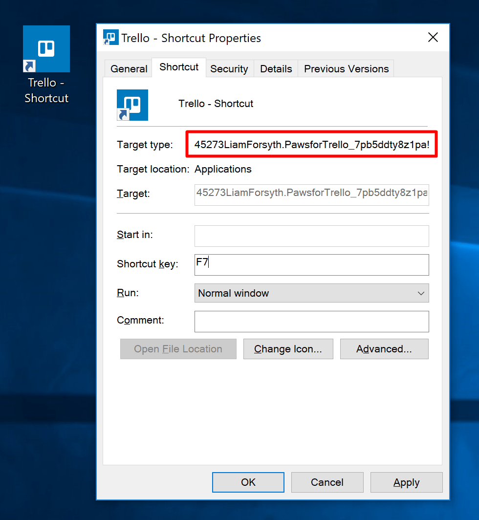 Finding the executable path for a Windows 10 Store App